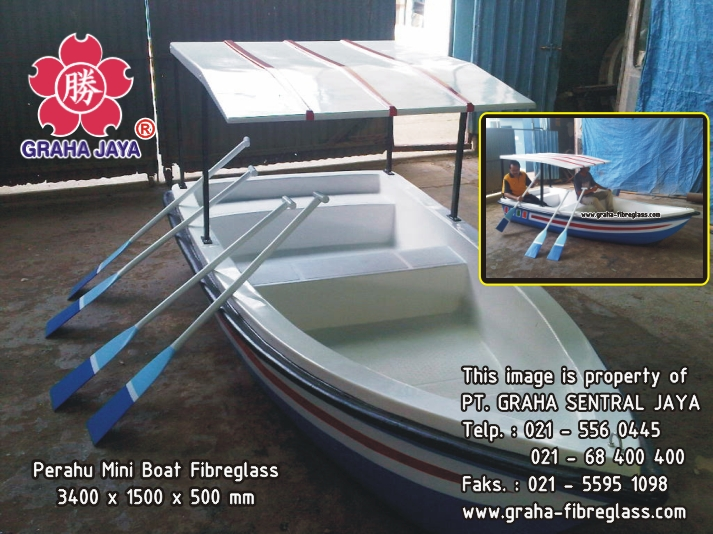Perahu Mini Boat Fibreglass
